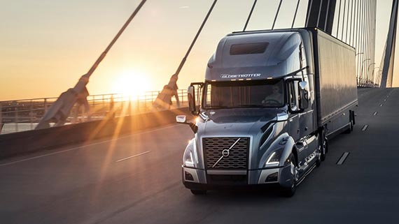 Volvo Trucks VNL on a hanging bridge for Build Your Volvo