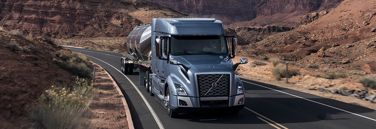Volvo Trucks on a highway
