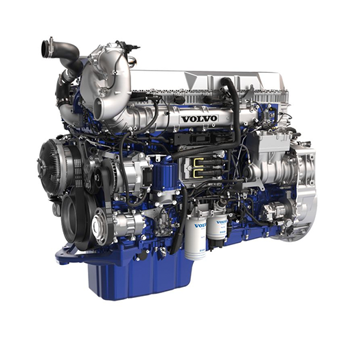 Volvo Trucks d13 engine side view for -360-view