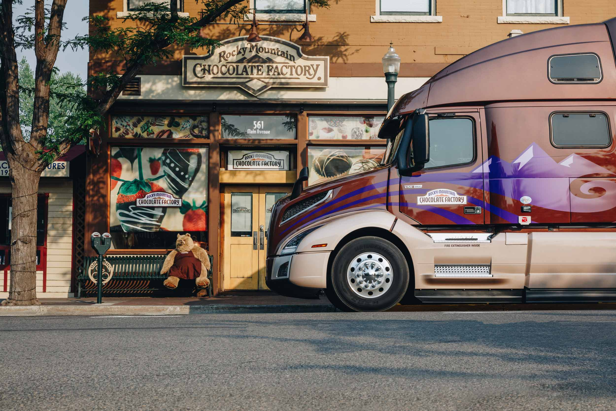 Volvo Truck at Rocky Mountain