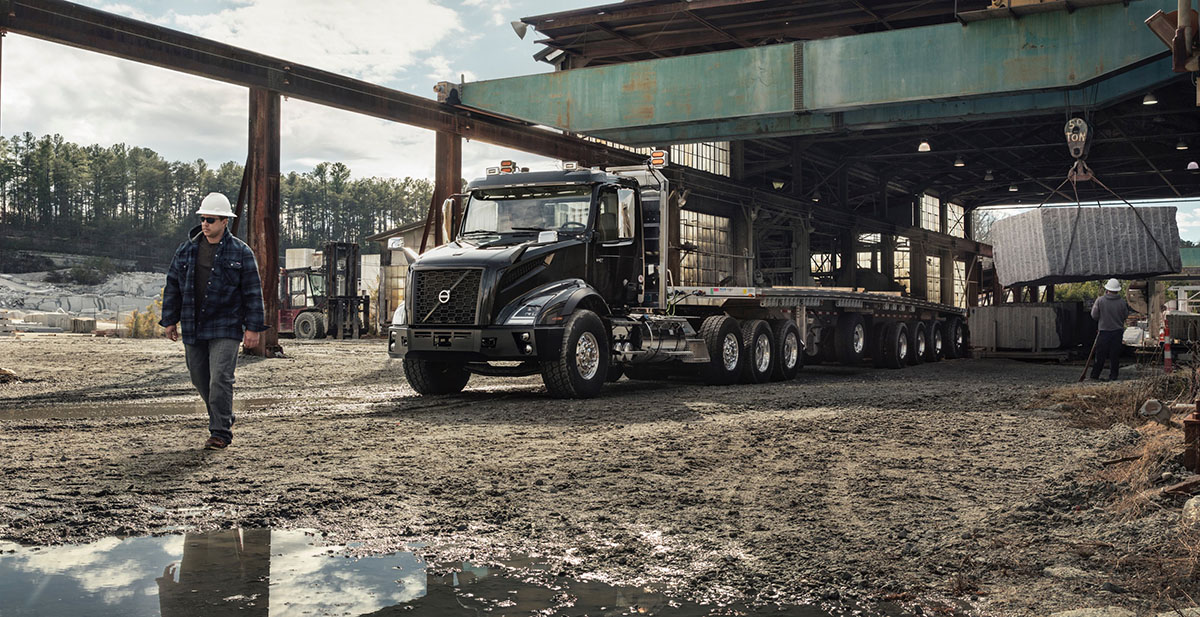 The Volvo VNX is rock solid and ready for heavy-hauling.