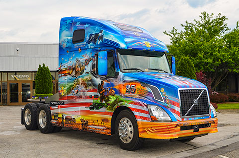 Volvo Trucks New River Valley Embly Plant In Dublin Virginia Recently Unveiled Its 2016 Ride For Freedom Truck Featuring Custom Designed Graphics That
