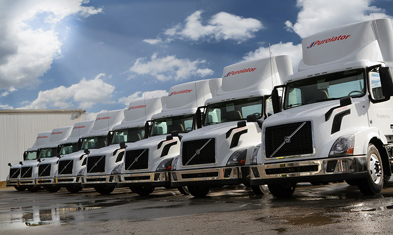 White Volvo Trucks Delivers First Canadian Models equipped with 2017 Engines to Purolator