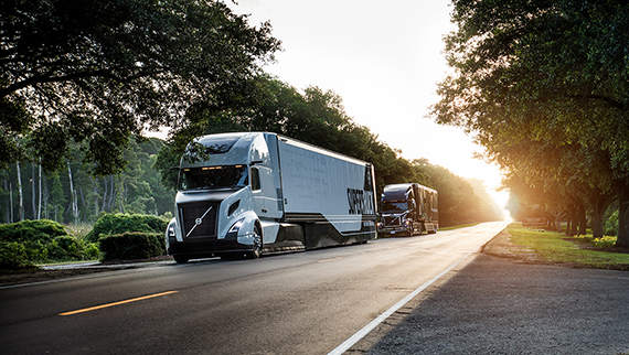 2018 volvo tractor trailer. Beautiful Tractor Volvo SuperTruck Driving On A Road Surrounded By Trees Inside 2018 Volvo Tractor Trailer