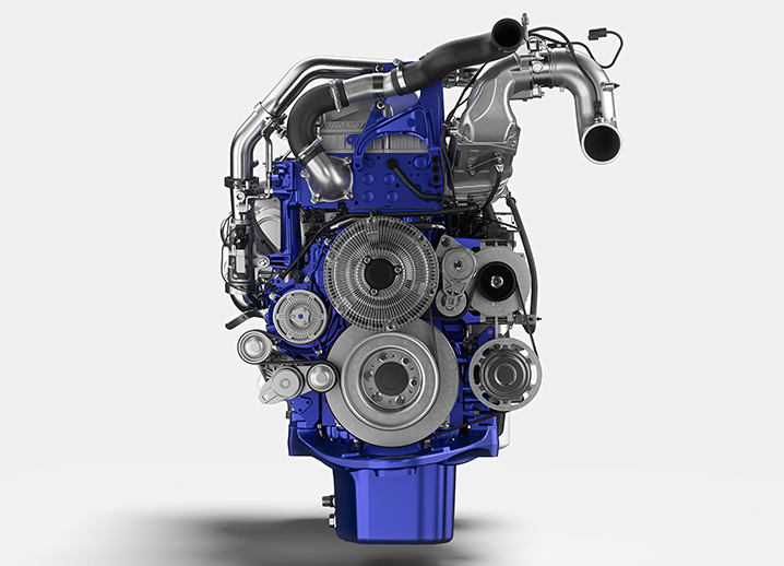 Volvo Trucks d13tc engine front view