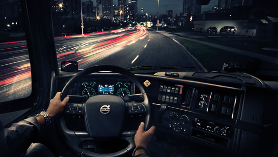 Truck Driving At Night