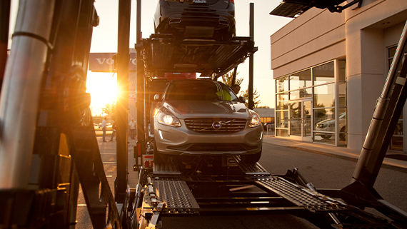 Volvo cars getting off from VAH at dealer site
