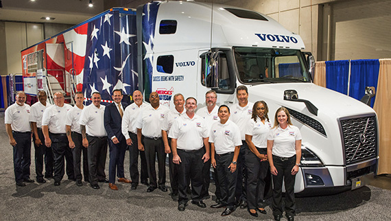 President of Volvo Trucks North America Peter Voorhoeve with the 2020 America's Road Team Captains