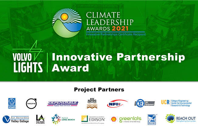 Volvo LIGHTS Climate Leadership Award Project Partners