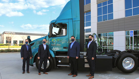 Volvo VNR Electric to Michael Douglas