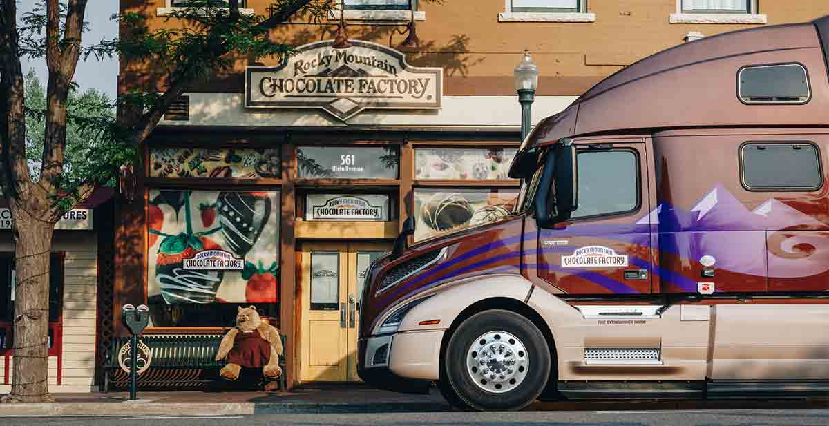 Volvo Truck VNL at Rocky Mountain Chocolate Factory
